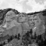 """Mt Rushmore grayscale"" by lwoodburn"