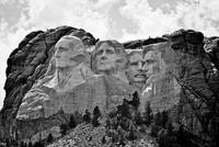 Mt Rushmore grayscale