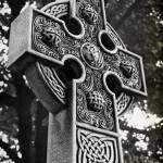 """""""Celtic Cross in Black and White"""" by jimcrotty"""