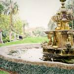 """Huntington Fountain Morning Mist"" by DavidLloydGlover"