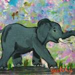 """Baby Elephant"" by paintingsbygretzky"