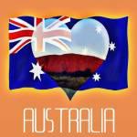 """""""Australian Flag( I love Australia)"""" by sensaze"""