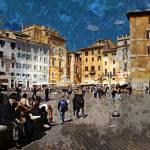 """""""Rome - Piazza della Rotunda"""" by JenniferLaskerWhite"""