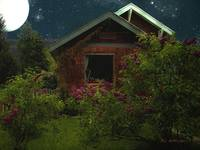 Lilac Cottage by Moonlight