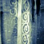 """Window with Spiral Curtains"" by paulasuterphoto"