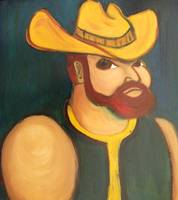 Cowboy with Yellow Hat and Beard
