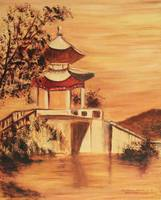 Pavillion on Bridge in I Ho Yuan China
