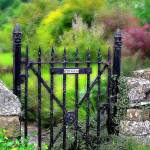 """English Garden Gate"" by JenniferLaskerWhite"