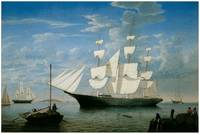 Ship Star Light in Boston Harbor by Fitz Hugh Lane
