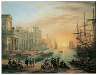 Seaport at Sunset by Claude Lorrain