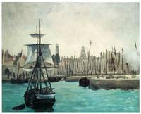 The Port at Calais by Edouard Manet