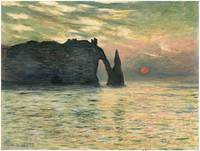 The Cliff at Etretat by Claude Monet