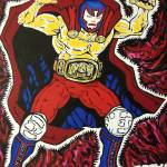 """2011,Masked Wrestler"" by leclairart"