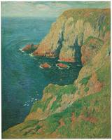 The Cliffs of Stang, Ile de Groix by Henry Moret
