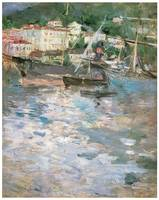 Harbor at Nice by Berthe Morisot