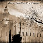 """St George Temple antique sepia 2"" by houstonryan"
