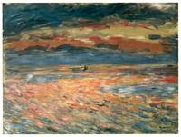 Sunset at Sea by Pierre-Auguste Renoir