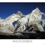 """Mount Everest, Nuptse, Lhotse and Khumbu Glacier"" by adventureart"