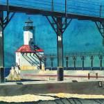 """Framed Lighthouse"" by LeAnneSowa"