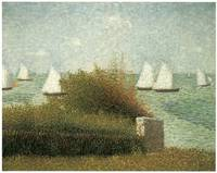 The Harbor at Grandcamp by Georges Seurat