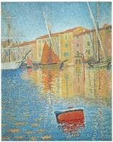 The Red Buoy, St. Tropez by Paul Signac