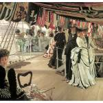 """The Ball on Shipboard by James Tissot"" by ArtLoversOnline"