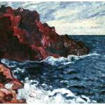 """Violet Cliffs by Louis Valtat"" by ArtLoversOnline"