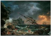 The Shipwreck by Claude-Joseph Vernet