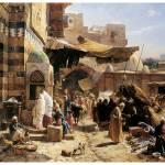 """""""Market in Jaffa by Gustav Bauernfeind"""" by ArtLoversOnline"""