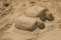 Rally Car in Sand