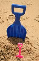 Blue and Pink Shovel