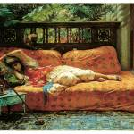 """Siesta (Afternoon in Dreams) by Frederick Bridgman"" by ArtLoversOnline"