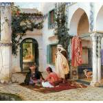 """The Courtyard by Frederick Arthur Bridgman"" by ArtLoversOnline"