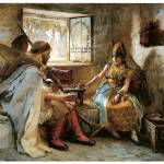 """The Game of Chance by Frederick Arthur Bridgman"" by ArtLoversOnline"