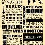 """World capitals retro poster"" by HelloToYouAll"