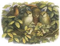 In Fairyland: Fairy with Owls by Richard Doyle