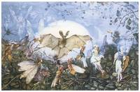 Fairies Attacking a Bat by John Anster Fitzgerald