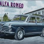 """Alfa Romeo 2000 berlina in front of Portello facto"" by biesmarens"