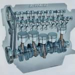 """FIAT engine cutaway"" by biesmarens"