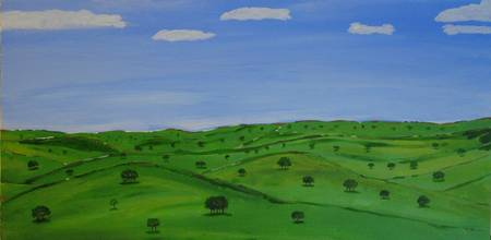 Hill country painting