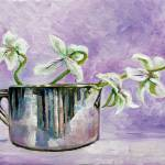 """Irises with copper pot study"" by fieldsendart"