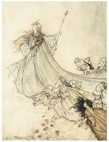 Fairies Away by Arthur Rackham