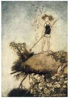 One Aloof Stand Sentinel by Arthur Rackham