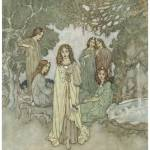 """The Garden of Paradise by Edmund Dulac"" by ArtLoversOnline"