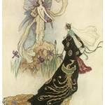 """The Fairy Welcomed Her Majesty by Warwick Goble"" by ArtLoversOnline"