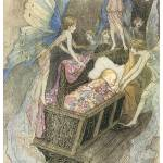 """Sweetly Singing Round Thy Bed by Warwick Goble"" by ArtLoversOnline"