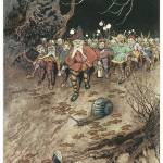 """Padding Feet of Gnomes a-coming by Warwick Goble"" by ArtLoversOnline"