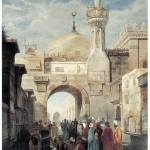 """Mosque of Al Azhar in Cairo by Adrien Dauzats"" by ArtLoversOnline"