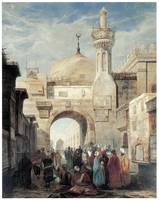 Mosque of Al Azhar in Cairo by Adrien Dauzats