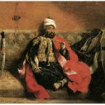"""Turk Seated on Sofa and Smoking by Delacroix"" by ArtLoversOnline"